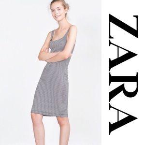 Zara Basic Sleeveless Striped Dress sz M